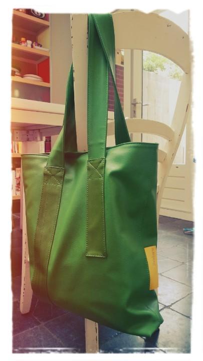 Groene tas DD-AR Shopper van 2ndare