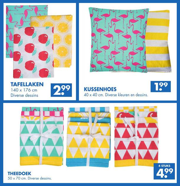 Vrolijk textiel met grafische prints bij Zeeman