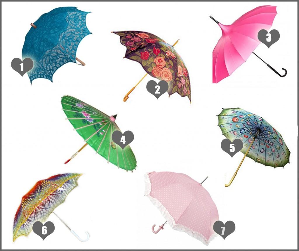 Hippe parasols