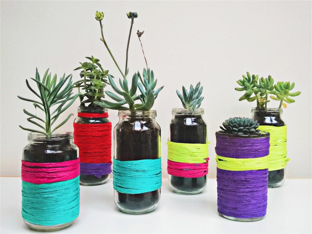 DIY bloempot voor hippe vetplantjes