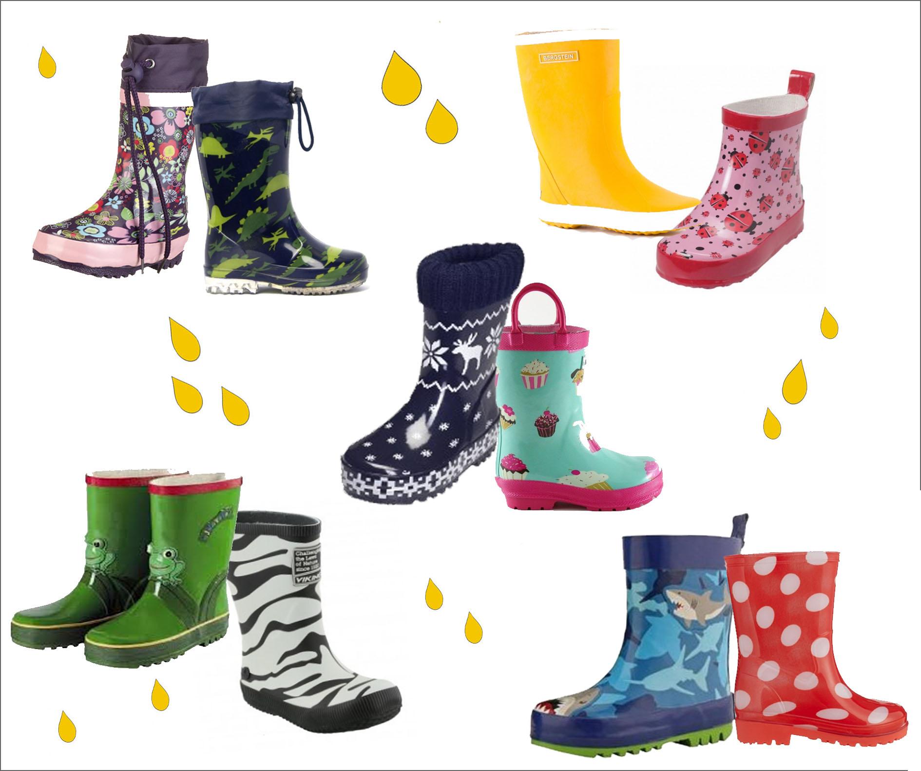 Hippe regenlaarsjes voor kinderen