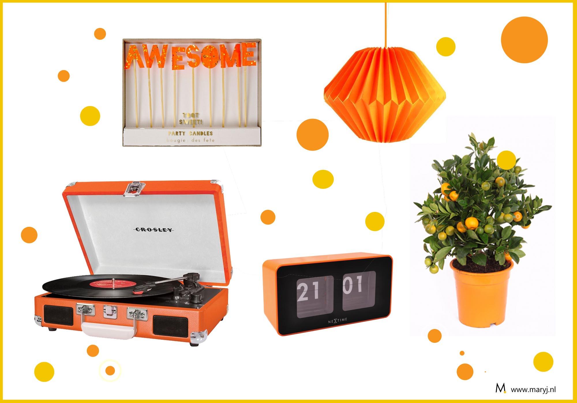 Koningsdag oranje shopinspiratie