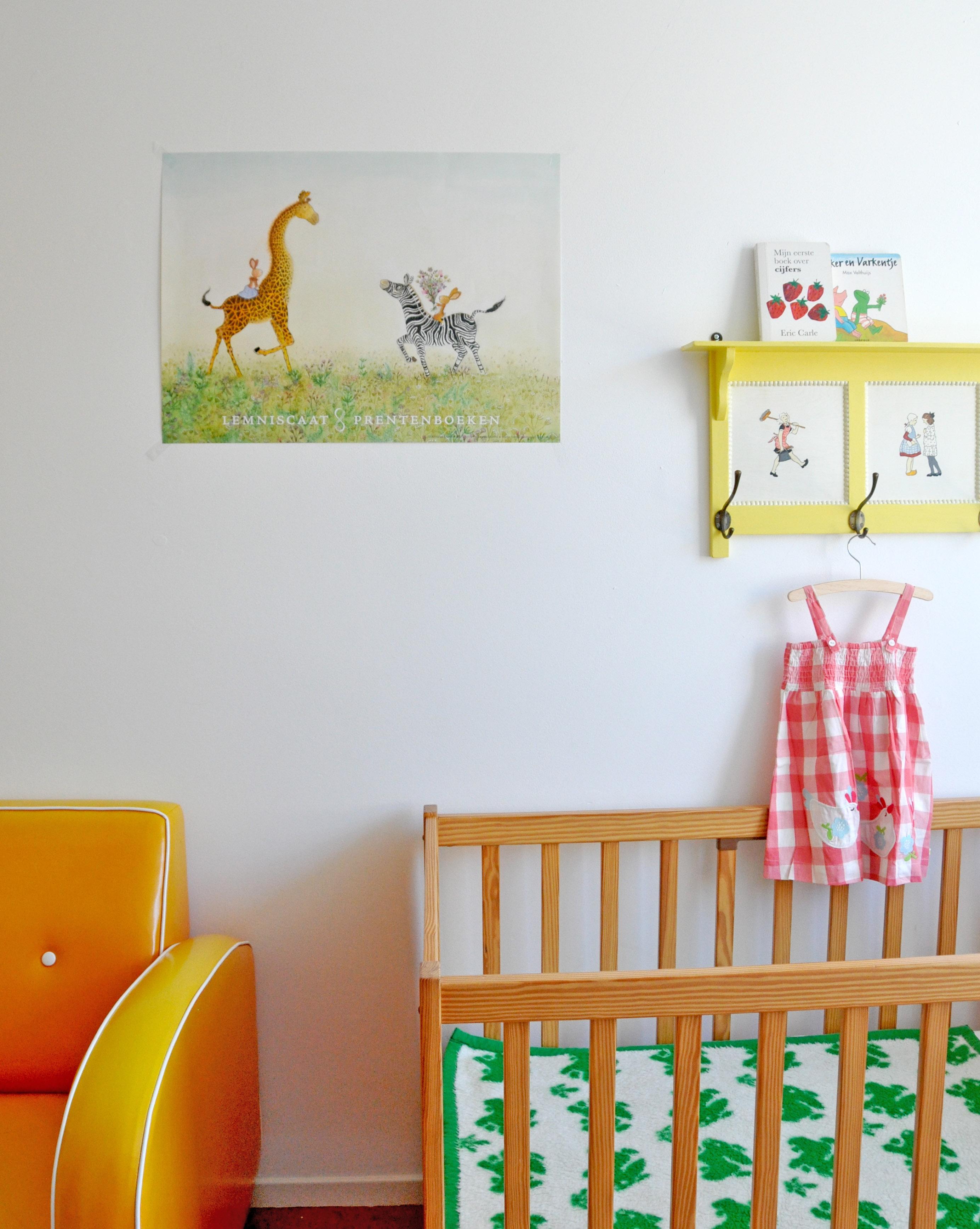 Grote kinderposter giraffe Lemniscaat