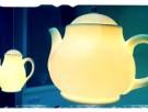 Leuke lampen in de vorm van theepot en koffiepot