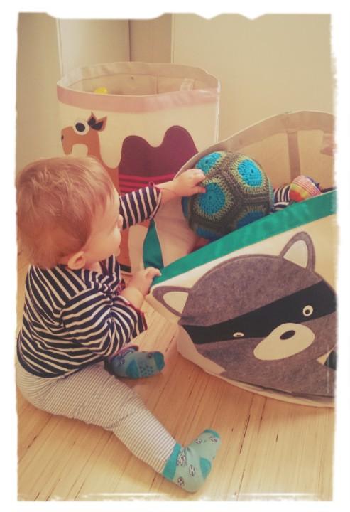 Handig en mooi: speelgoedmand met dierenprint van 3 Sprouts
