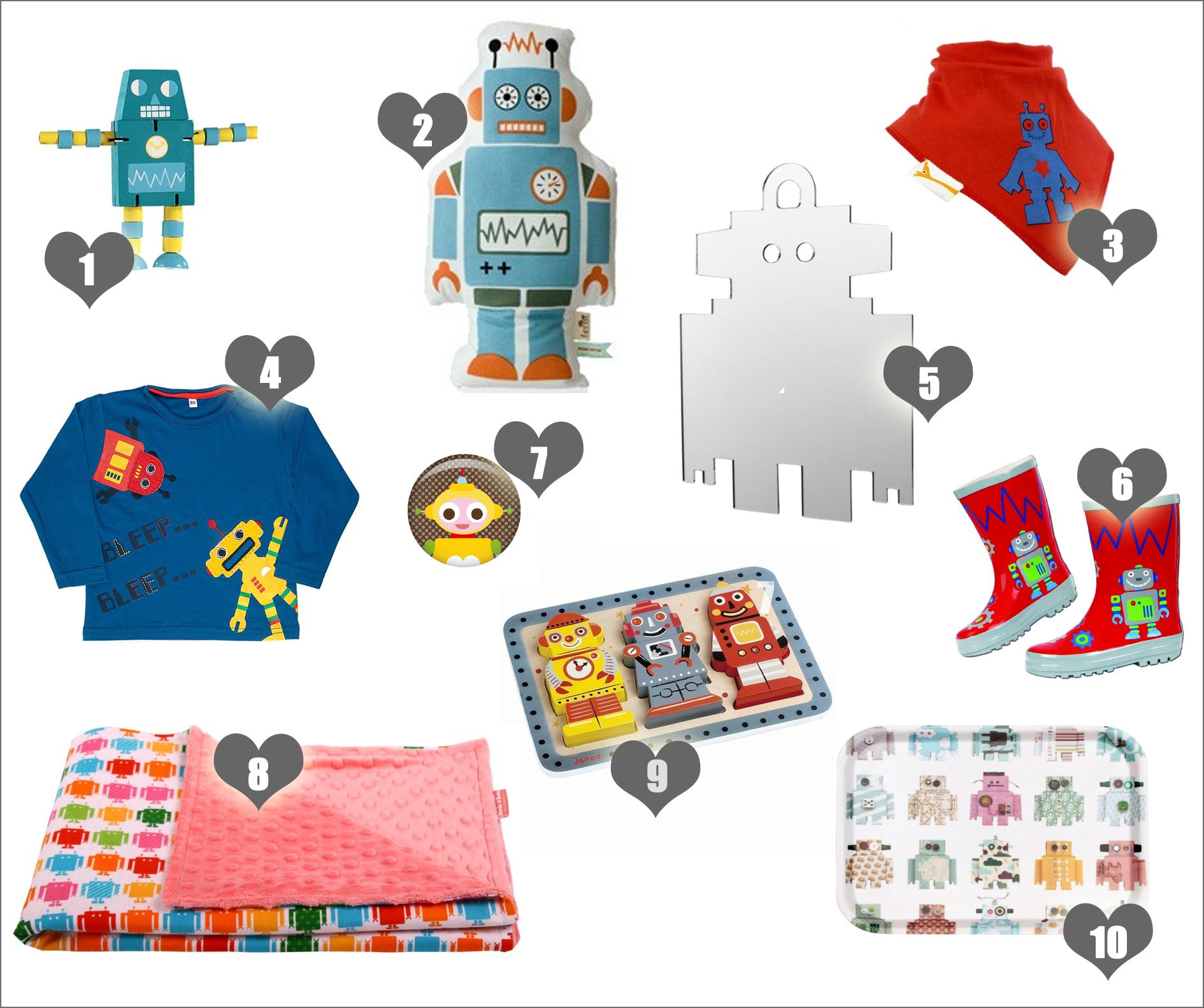 10x hippe robots voor je baby en peuter