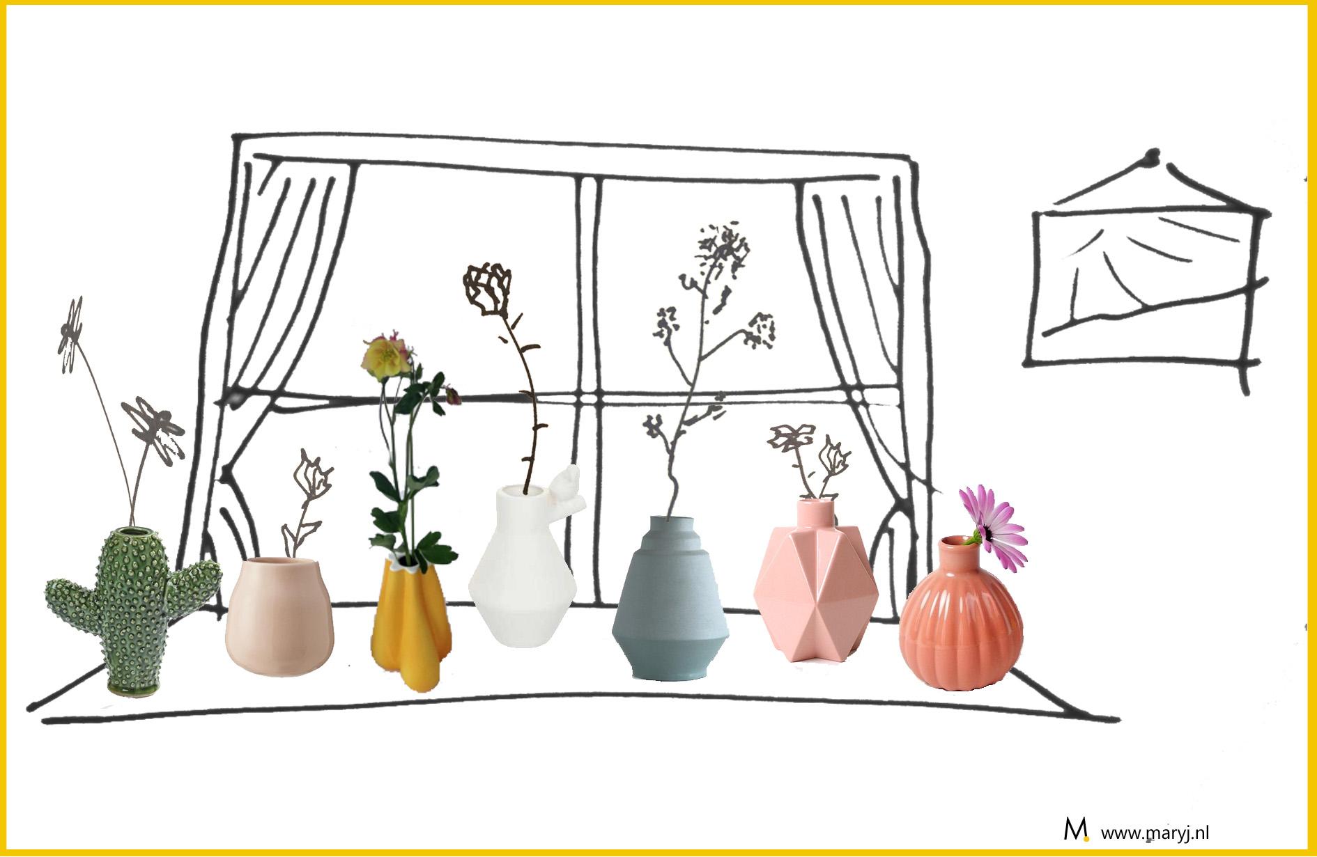 Vrolijke vaasjes voor je mooiste bloemen